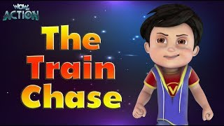 Hindi Cartoon videos for kids  | Vir -The Robot Boy | The Train Chase | Wowkidz Action