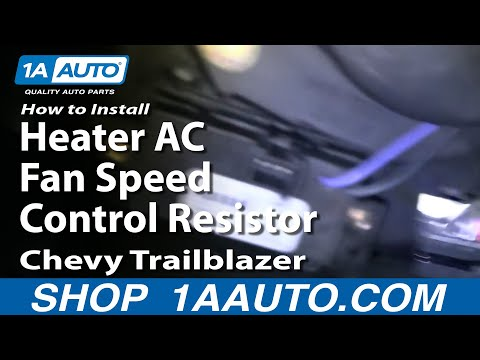 How To Install Replace Heater AC Fan Speed Control Resistor Chevy Trailblazer 02