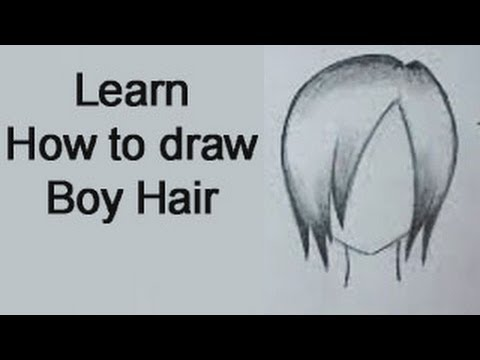 How To Draw Boy Hair Manga Style Real Time Youtube