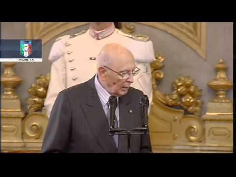Giorgio Napolitano parla agli azzurri
