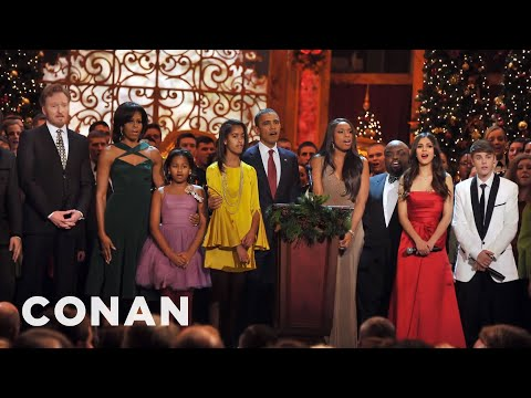 Victoria Justice & Conan Sang Together At The White House  - CONAN on TBS