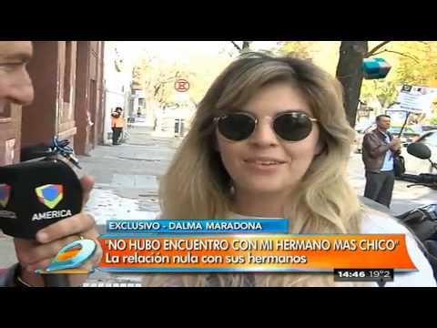 """Dalma Maradona: """"No hubo encuentro con mi hermano más chico"""""""