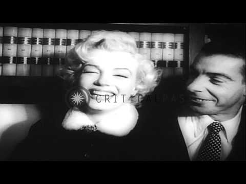 Hollywood Star Marilyn Monroe Dies At 36 After A Successful Career In Films. Hd Stock Footage video
