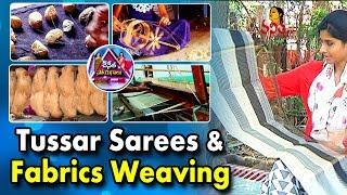 Handloom Tussar Sarees & Fabrics Weaving    Chenetha Soyagalu    Vanitah TV