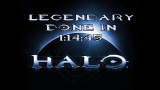 Halo: CE Legendary Speedrun in 1:14:45