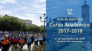 Apertura de Curso Académico 2017/2018 · 11/09/2017