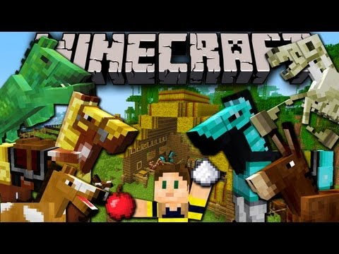 Minecraft 1.6 Snapshot: Horses. Donkeys. Undead. Carpet. Mob Leash. Hay. Saddle. Armor 13w16a