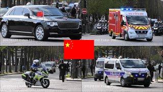 Chinese President Xi Jinping Motorcade  in Paris
