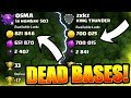 DEAD BASES EVERYWHERE! - WHAT LEAGUE TO FIND THEM!? - Clash Of Clans