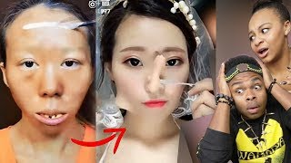 VIRAL ASIAN MAKE UP TRANSFORMATION TUTORIAL