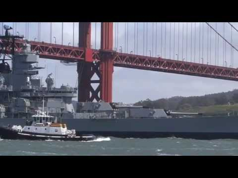 USS IOWA Departs — From Port To Pacific