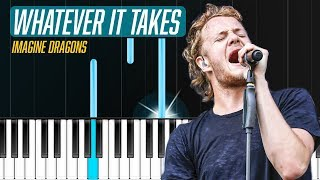 "Download Lagu Imagine Dragons - ""Whatever It Takes"" Piano Tutorial - Chords - How To Play - Cover Gratis STAFABAND"