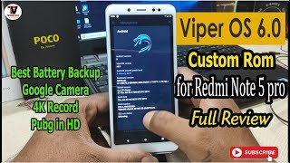 Viper OS 6.0 Android 9 Pie Custom Rom on Redmi Note 5 Pro Full Review