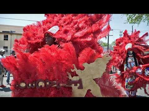 Mardi Gras Indians on Super Sunday 2018 in New Orleans