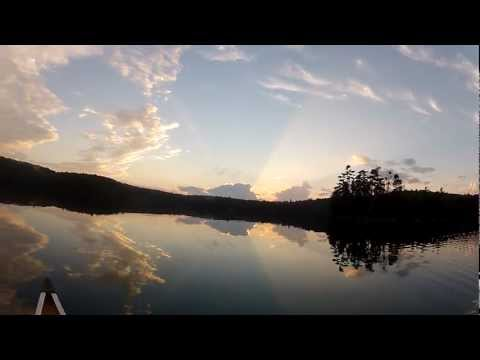 Fishing Swan Lake Sunset