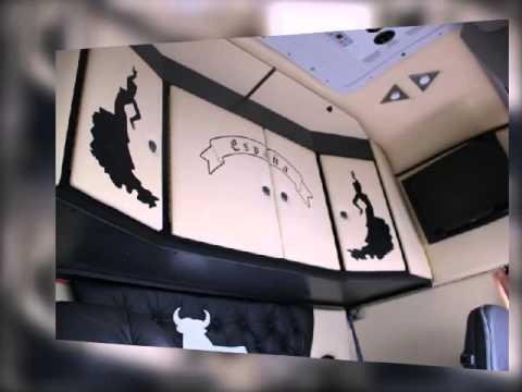 lkw umbau leder interior f r volvo youtube. Black Bedroom Furniture Sets. Home Design Ideas