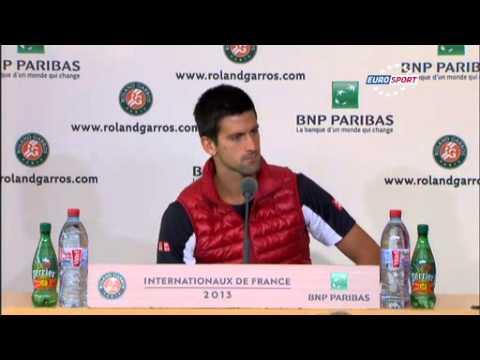 Djokovic dedicated win to first coach Gencic - R4 press conference - RolandGarros 2013