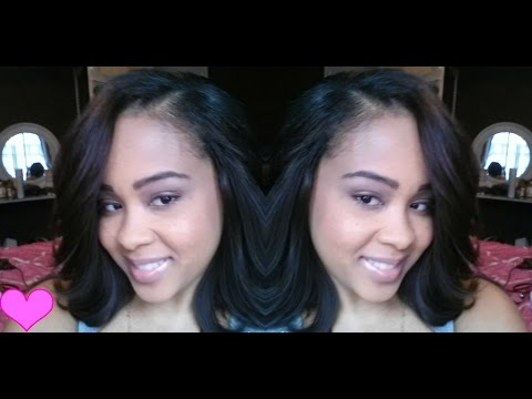 Cut & Style MY Sew in Weave Bob Hair Extensions. Protective Hairstyle Part 2