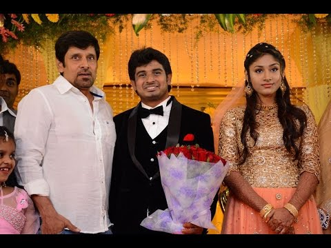 Mansoor Ali Khans Daughter Wedding Reception Vijayakanth Vishal
