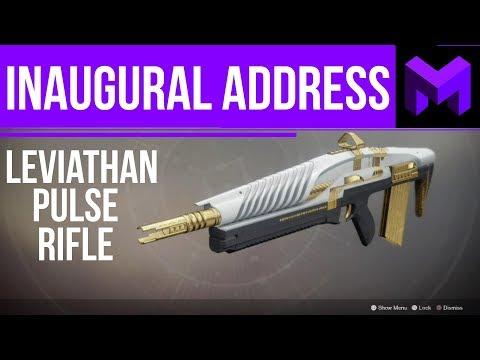 Destiny 2: Inaugural Address Leviathan Raid Pulse Rifle Review