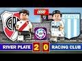River Plate 2 - 0 Racing Club - LEGO - SuperLiga Resumen y Goles Stop Motion - Centurión vs Coudet