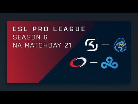 CS:GO: SK vs. Rogue | compLexity vs. Cloud9 - Day 21 - ESL Pro League Season 6 - NA 2nd Stream