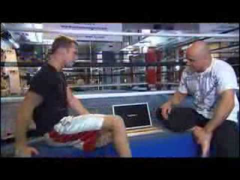 Cam Gigandet and pro MMA trainer Bas Rutten