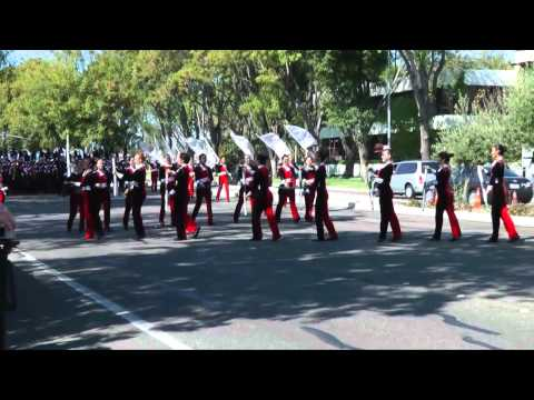 Saratoga High School Marching Band and Color Guard at TOB 2012