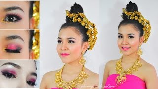 Thai style makeup & hair tutorial : แต่งหน้า ทำผม ชุดไทย-ล้านนา