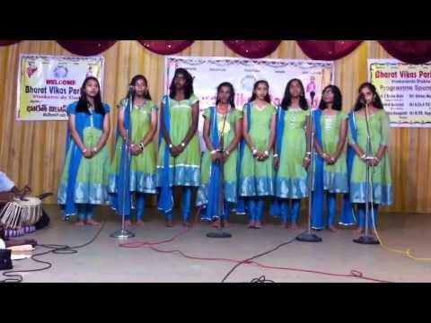 Somya Performing Classical Group Song  Bharat Vikas Competition video