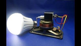 220v light bulb , Free Energy with speaker