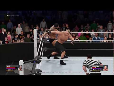 Brock Lesnar Vs Batista - Batista Destroys Brock Lesnar - Full Match