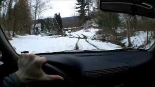 offroad in snow with Audi A4 Quattro