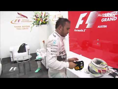 Lewis Hamilton throw a cap to Nico Rosberg but he