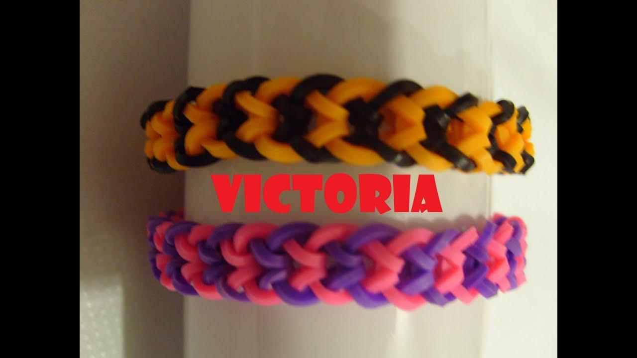 bracelet elastique victoria tuto francais rainbow loom bands youtube. Black Bedroom Furniture Sets. Home Design Ideas