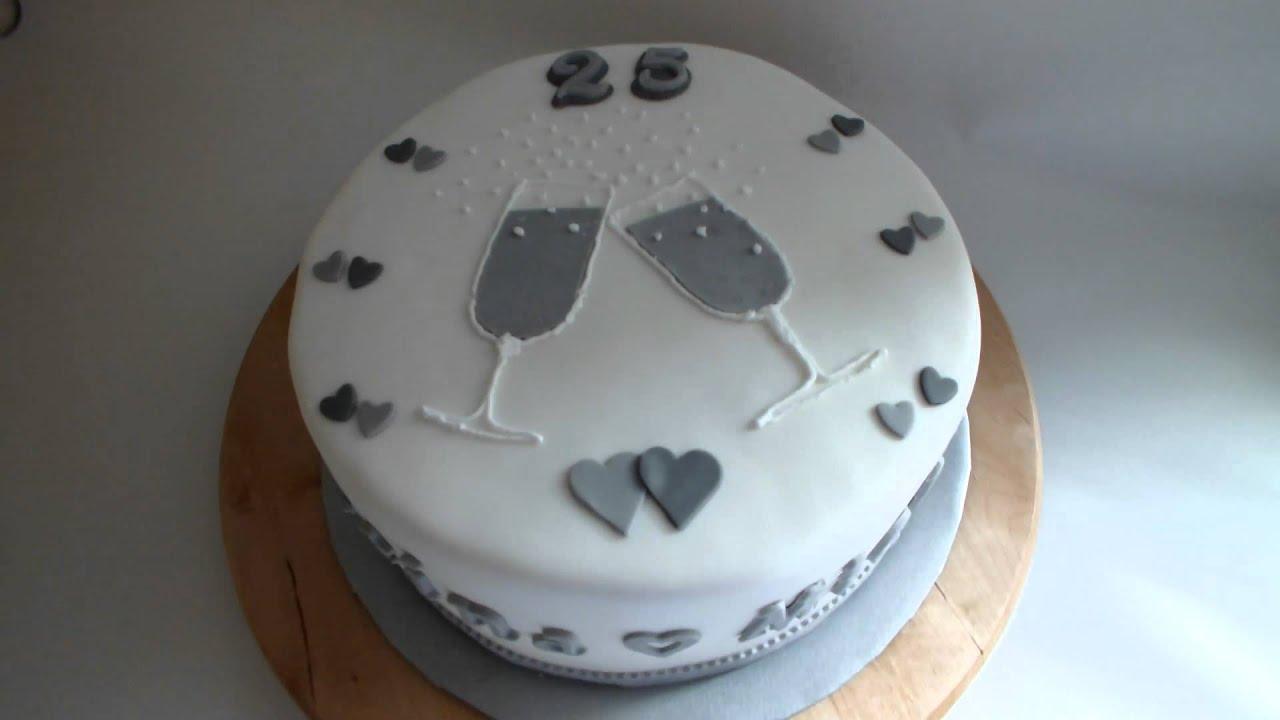 Torte F R Silberhochzeit Youtube