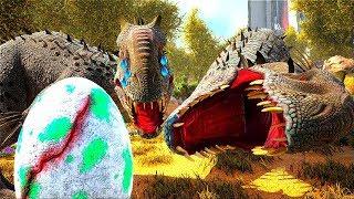 O BEBÊ INDOMINUS REX BILY CHOROU - BATERAM NA MINHA MÃE ! Dinossauro Ark Animals Evolved