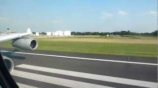 "LH427: Takeoff from Philadelphia with Airbus A340-300 ""Golf Mike"""