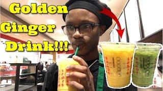 STARBUCKS NEW Golden Ginger Drink & Iced Pineapple Match Drink!!!