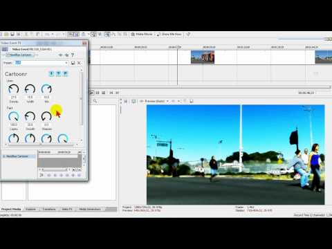 Free watercolor and animation effects for Sony Vegas & Movie Studio