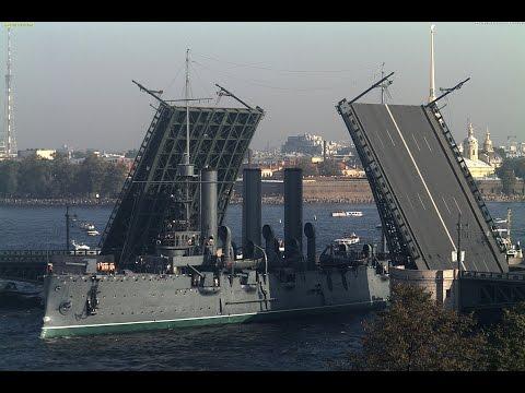 Legendary Russian cruiser Aurora Timelapse