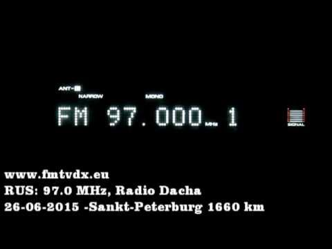 FM DX sporadic E in Holland: Russia 97.0 MHz Radio Dacha