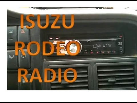Isuzu Rodeo Radio Installation