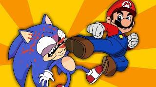 SUPER MARIO vs SONIC The Hedgehog Animation