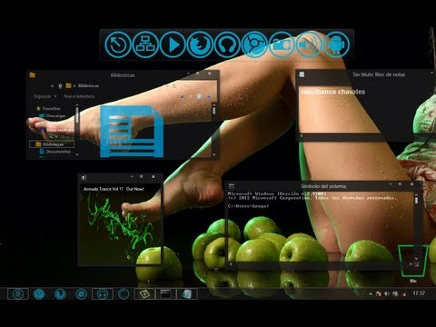 windows 8 full glass ( windows media player transparente )