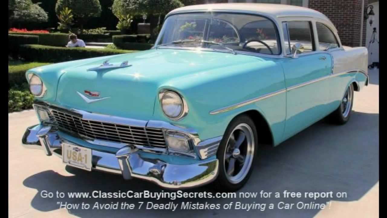 1956 chevy 210 classic muscle car for sale in mi vanguard motor sales youtube. Black Bedroom Furniture Sets. Home Design Ideas
