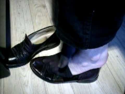 Loafers Ultra Sheer Black Socks & Bare Feet video