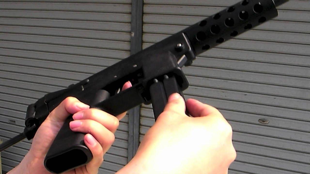 Maruzen KG-9(TEC-9) GBB airsoft gun マルゼン KG9 ガスブロ - YouTube