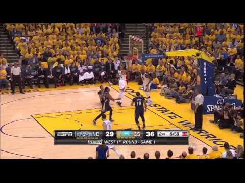 pelicans @ warriors Game 1 4-18-15