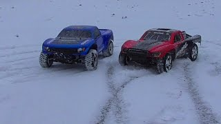 Traxxas Slash a Raptor 2WD - zimní akce